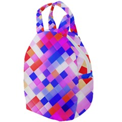 Squares Pattern Geometric Seamless Travel Backpacks