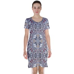 Triangle Pattern Kaleidoscope Short Sleeve Nightdress