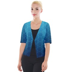 Mosaic Wallpaper Cropped Button Cardigan