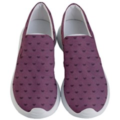 Nodes Purple Texture Women s Lightweight Slip Ons by AnjaniArt