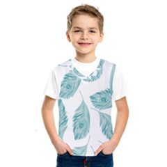 Peacock Feather Background Kids  Sportswear by AnjaniArt