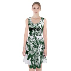 Plant Tropical Leaf Colocasia Racerback Midi Dress by AnjaniArt