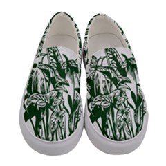 Plant Tropical Leaf Colocasia Women s Canvas Slip Ons