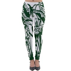 Plant Tropical Leaf Colocasia Lightweight Velour Leggings by AnjaniArt