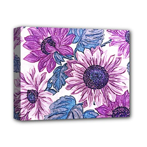 Fabric Flowers Floral Design Deluxe Canvas 14  X 11  (stretched)