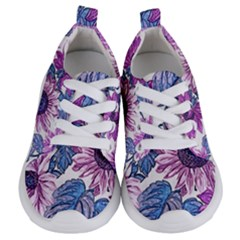 Fabric Flowers Floral Design Kids  Lightweight Sports Shoes