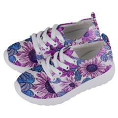 Fabric Flowers Floral Design Kids  Lightweight Sports Shoes by Pakrebo