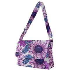 Fabric Flowers Floral Design Full Print Messenger Bag