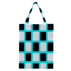 Squares Pattern Classic Tote Bag by AnjaniArt