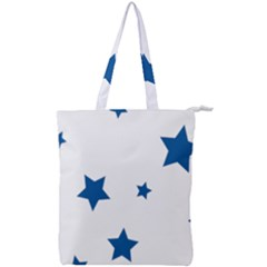 Star Double Zip Up Tote Bag