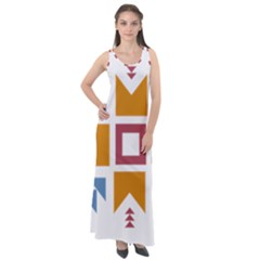 Star Flag Unique Sleeveless Velour Maxi Dress by AnjaniArt