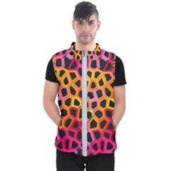 Mosaic Structure Pattern Background Men s Puffer Vest
