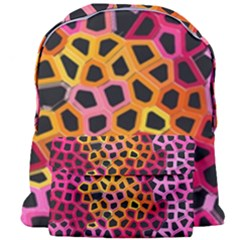Mosaic Structure Pattern Background Giant Full Print Backpack