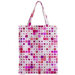 Square Pattern Colorful Zipper Classic Tote Bag by AnjaniArt