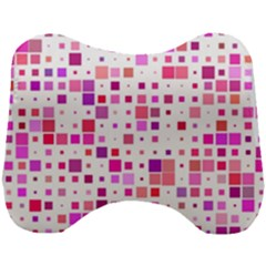 Square Pattern Colorful Head Support Cushion by AnjaniArt