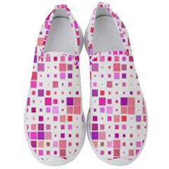 Square Pattern Colorful Men s Slip On Sneakers