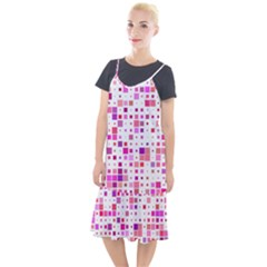 Square Pattern Colorful Camis Fishtail Dress by AnjaniArt