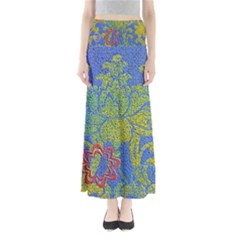 Paint Concrete Old Rough Textured Full Length Maxi Skirt