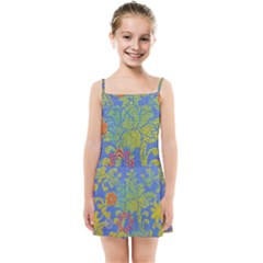 Paint Concrete Old Rough Textured Kids  Summer Sun Dress