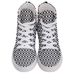 Seamless Abstract Geometric Pattern Women s Hi Top Skate Sneakers