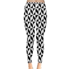 Seamless Abstract Geometric Pattern Inside Out Leggings by AnjaniArt