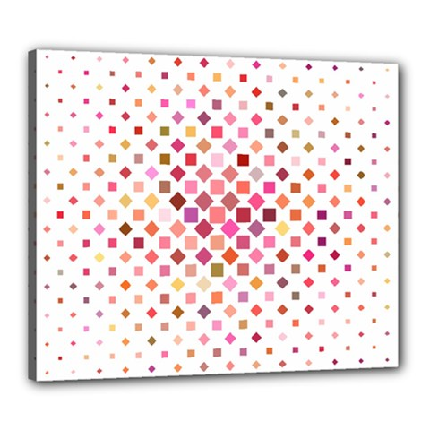 Square Pattern Background Repeat Canvas 24  X 20  (stretched)