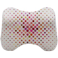 Square Pattern Background Repeat Head Support Cushion by AnjaniArt