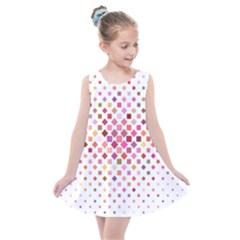 Square Pattern Background Repeat Kids  Summer Dress