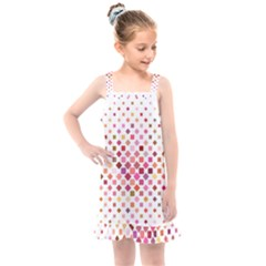 Square Pattern Background Repeat Kids  Overall Dress by AnjaniArt