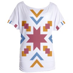 Star Flag Women s Oversized Tee by AnjaniArt