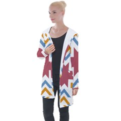 Star Flag Longline Hooded Cardigan by AnjaniArt