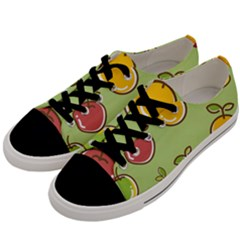 Seamless Fruit Men s Low Top Canvas Sneakers by AnjaniArt