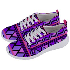 Seamless Purple Pink Pattern Men s Lightweight Sports Shoes by AnjaniArt