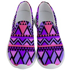 Seamless Purple Pink Pattern Men s Lightweight Slip Ons by AnjaniArt