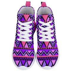 Seamless Purple Pink Pattern Women s Lightweight High Top Sneakers by AnjaniArt