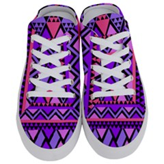 Seamless Purple Pink Pattern Half Slippers by AnjaniArt