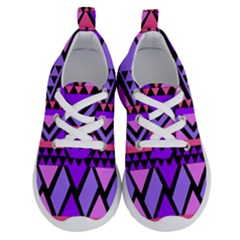 Seamless Purple Pink Pattern Running Shoes by AnjaniArt
