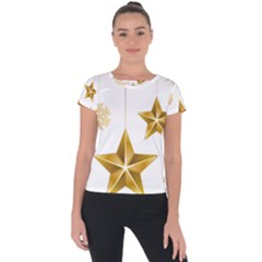 Star Christmas Ornaments Short Sleeve Sports Top