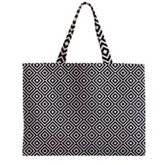 Square Diagonal Concentric Pattern Zipper Mini Tote Bag