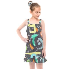 Repetition Seamless Tone Kids  Overall Dress by AnjaniArt