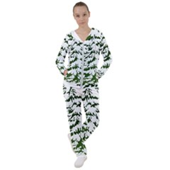 Winter Snowy Pine Tree Women s Tracksuit