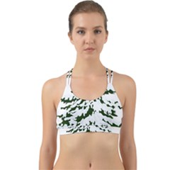 Winter Snowy Pine Tree Back Web Sports Bra by AnjaniArt