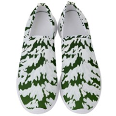 Winter Snowy Pine Tree Men s Slip On Sneakers by AnjaniArt