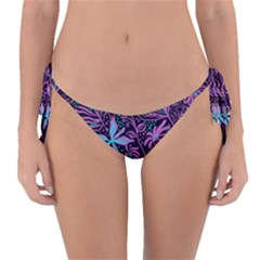 Stamping Pattern Leaves Reversible Bikini Bottom by AnjaniArt
