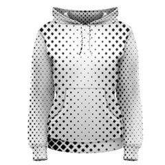 Square Rounded Background Women s Pullover Hoodie