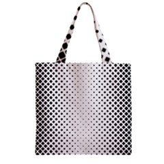 Square Rounded Background Zipper Grocery Tote Bag