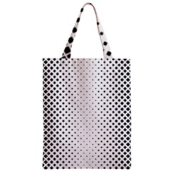 Square Rounded Background Zipper Classic Tote Bag