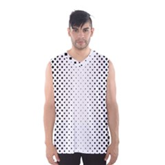 Square Rounded Background Men s Basketball Tank Top