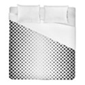 Square Rounded Background Duvet Cover (Full/ Double Size) View1