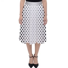 Square Rounded Background Classic Midi Skirt